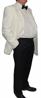 Chatleys Single Breast Cream White Tuxedo Jacket - Reduced to Clear