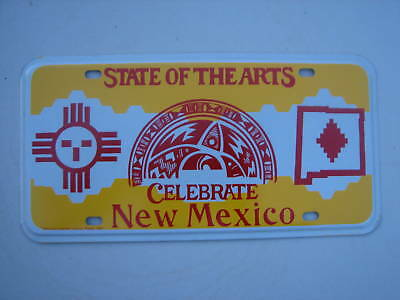 NEW MEXICO STATE OF THE  ARTS DIAMOND JUBILEE License Plate SOUTHWEST ARTIST