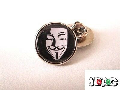 Pins Pin's Badge Anonymous Hacking - Finition Argentee Ou Doree