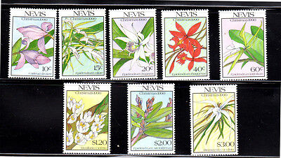 Nevis #626-633  Christmas Orchids  Set Of 8 Mint  Vf Nh