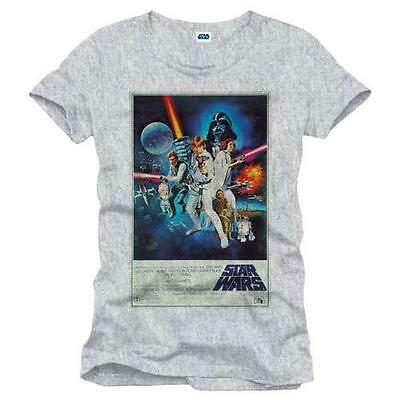 Star Wars - A New Hope Poster Short Sleeve T-Shirt - New & Official Lucasfilm