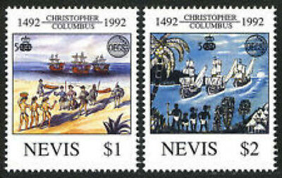 Nevis #736-737     Discovery Of America   Mint  Vf Nh