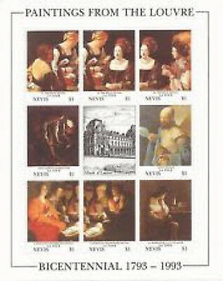 Nevis #777   Paintings  Sheet Of 8   Mint  Vf Nh