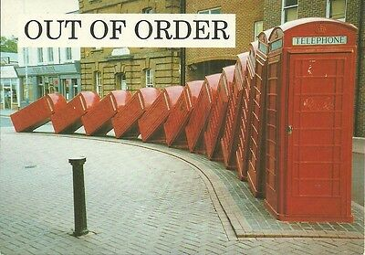British Tlephone Booths 'out Of Order'.