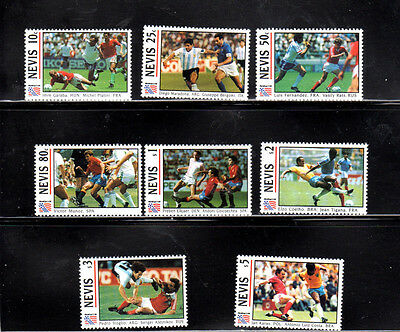 Nevis #809-816  1994 World Cup Soccer  Set Of 8   Mint  Vf Nh