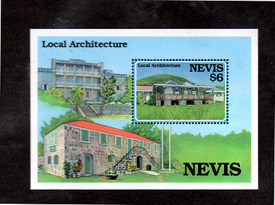 Nevis #871  $6  Local Architecture  S/s   Mint  Vf Nh