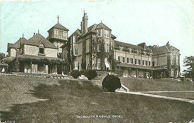 Southern Railway Hotel Postcard. Sidmouth Knowle Hotel. Sidmouth