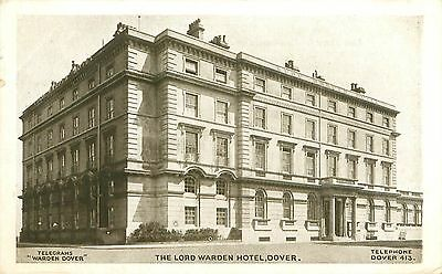South Eastern & Chatham Railway Hotel Postcard. Dover. Lord Warden Hotel.