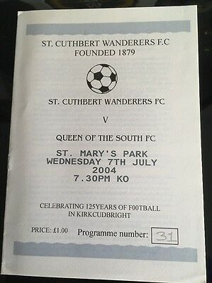 St Cuthbert Wanderers  V Queen Of The South Fc 2004
