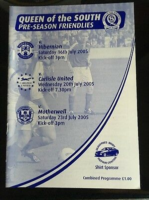 Queen Of The South Fc V Carlisle Utd Fc & Motherwell Fc 2005