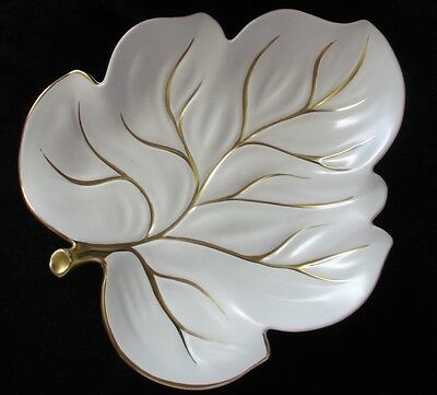 Carlton Ware Cream/gold Leaf Plate