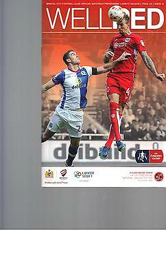 PROGRAMME - BRISTOL CITY v FLEETWOOD  TOWN - FA CUP - 7 JANUARY 2017