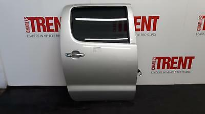 2010 TOYOTA HILUX 4 Door Pickup Silver O/S Drivers Right Rear Door