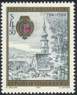 Austria 1984 Kostendorf/Church/Clock Tower/Town Buildings/History 1v (at1005a)