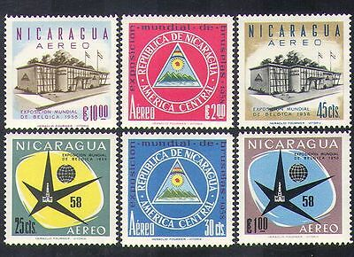 Nicaragua 1958 EXPO/Exhibition/Buildings/Architecture/Commerce 6v set (n37356)