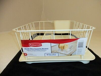 Rubbermaid Large Drainer 6032-Ar & 1182-Ma Drain Board Set In Bisque - New
