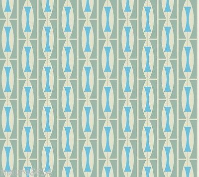 Dolls House Retro Wallpaper: 1960/70's Design ;Ideal for Lundby Dollhouses