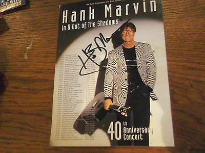 Hank Marvin Theatre Flyer Hand Signed By Hank Marvin
