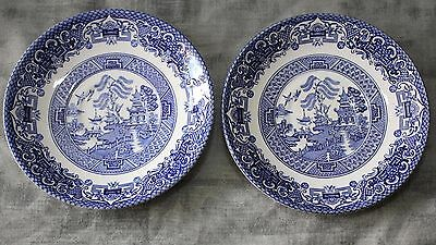 Old Willow, English Ironstone Tableware -  Pair of Saucers