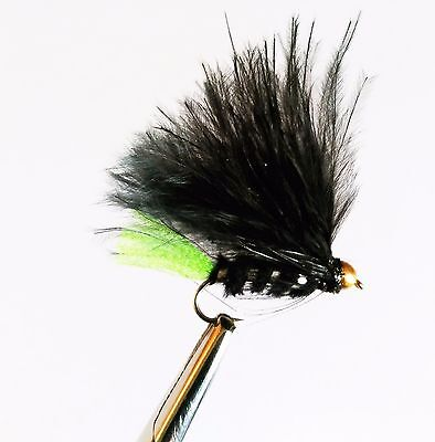Black Viva Trout Buzzers Trout Lures Fly Fishing Trout Flies