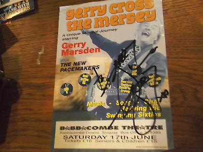 Gerry Marsden Theatre Flyer Hand Signed By Gerry Of Gerry And The Pacemakers