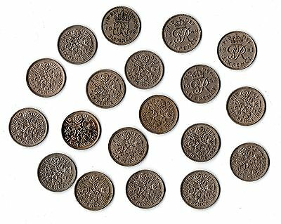 Various Lucky Sixpence Coins - Choose Date 1948 to 1967 - Birthday Gift