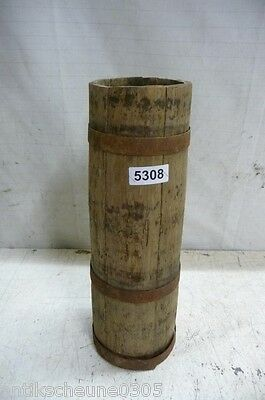 5308. Altes Holzfass Fass Getreidefass Old wooden barrel