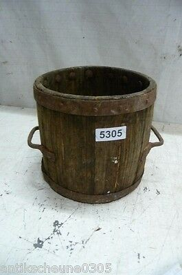 5305. Altes Holzfass Fass Getreidefass Old wooden barrel
