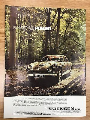 Original RARE 1968 JENSEN Motors Large Colour Vintage Car Advert L11 + Guinness