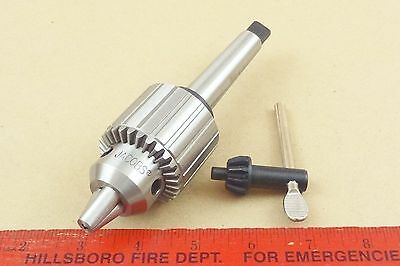 """New Genuine Mt2 Jacobs 33 Tailstock Drill Chuck 4 Lathe 1/2"""" Capacity & Key"""