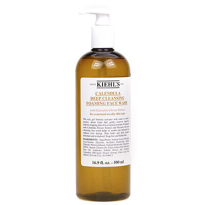 Kiehl's Calendula Deep Cleansing Foam Face Wash Foaming Cleanser 500ml - NEW