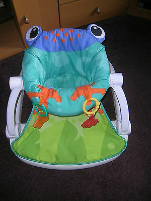 """**MM FISHER PRICE Frog """"Sit me Up"""" Chair Unisex**"""