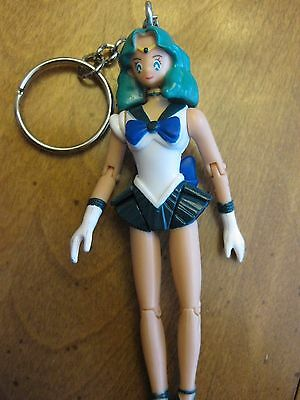 Sailor Neptune  Figurine Key Ring Mobile Arms  Knees & Head & Promo Pamphlet