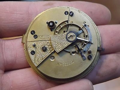 Good Antique Gents English Lever Pocket Watch Movement