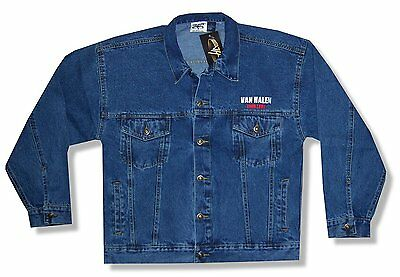 Van Halen 2004 Blue Denim Jean Jacket New Official Sammy Hagar Rock Music Band