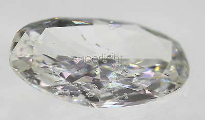 Certified 0.69 Carat E Color SI2 Oval Enhanced Natural Diamond 8.38x5.04mm VG VG