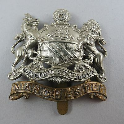 Millitary Cap Badge The Manchester Regiment British Army Infantry