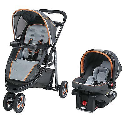 Graco Modes Sport Click Connect Stroller and Car Seat Travel System, Tangerine