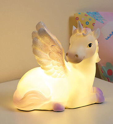 Bnib New Unicorn Led Table Night Lamp Light Wings Decor Kids Girls Bedroom