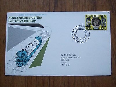 50th ANNIV of the POST OFFICE RAILWAY COVER with SPECIAL HANDSTAMP