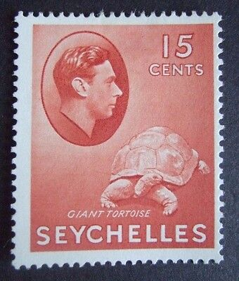 MOUNTED MINT SEYCHELLES KGVI 15c RED - SG. 139a - POST FREE