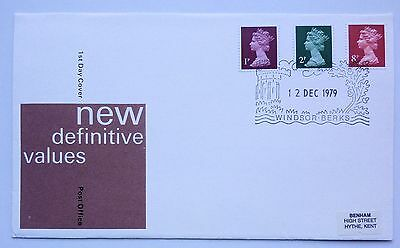 Great Britain First Day Cover New Definitive Values 12 December 1979