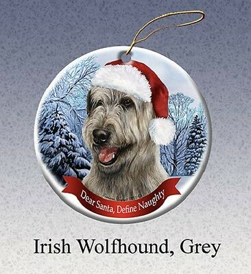 Dear Santa Define Naughty Ornament - Irish Wolfhound HO138