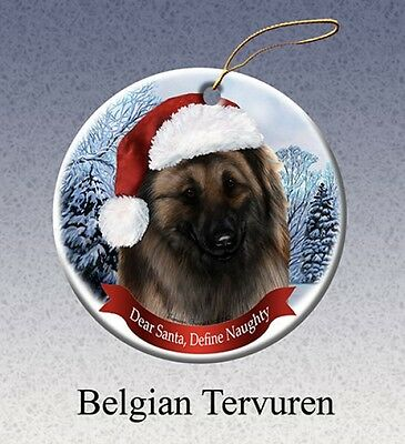 Dear Santa Define Naughty Ornament - Belgian Tervuren HO018