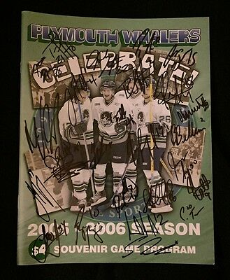 2005/06 Plymouth Whalers Team Signed Game Program James Neal