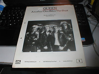 Queen Another One Bites The Dust Official Sheet Music Very Rare