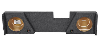 "Double Cab Dual 10"" Downfire Subwoofer Sub Box Enclosure For 2014-2017 GMC/Chevy"