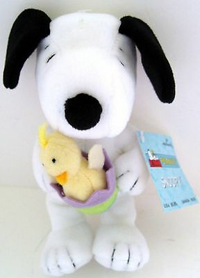 "Peanuts SNOOPY w/ EASTER EGG & CHICK 8"" PLUSH DOLL w/ TAG from HALLMARK"