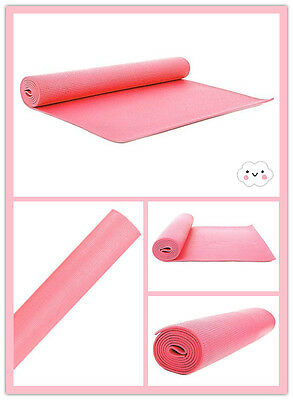 Fitness Gym Yoga Exercise Mat Physio Pilates Festivals Camping Non Slip 6mm Thic