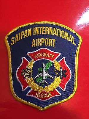 Saipan International Airport Aircraft Rescue Shoulder  Patch